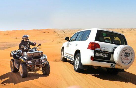 Combo Desert Safari 4x4 et Quad Dubai